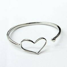 Fashion Stainless Steel Jewelry Bangle, Heart