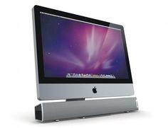 """XtremeMac Tango Sound Bar:  """"The Tango Audio Bar connects via any USB port, and after that the 10 watt speaker will take over. This bar flows seamlessly with the design of your personal computer (PC) or Mac. The six speaker configuration equipped with dual dome tweeters can be adjusted via the amber backlit volume control."""""""