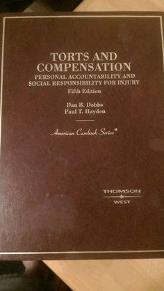 Torts And Compensation by Dan B Dobbs #Textbook