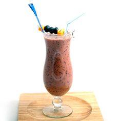 Smoothie choco-bleuets - Nutritionnistes NutriSimple