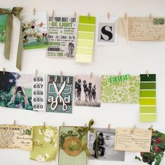 Ways to change up the photos in your home easily...or just decorate with post cards