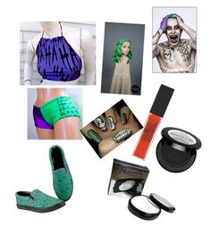 """""""joker for halloween"""" by suefashionwardrobe on Polyvore featuring Maybelline and Mehron"""