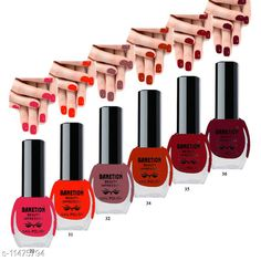 Nails Banetion Exclusive Long Lasting Nail Paint Combo Brand Name: Benetion Color: Multicolor Type: Matte Multipack: Combo Pack of 6 Capacity: 6 ml Each Country of Origin: India Sizes Available: Free Size *Proof of Safe Delivery! Click to know on Safety Standards of Delivery Partners- https://ltl.sh/y_nZrAV3  Catalog Rating: ★4.1 (1819)  Catalog Name: Free Gift Exclusive Bright Nail Polish CatalogID_2156589 C51-SC1244 Code: 551-11475794-