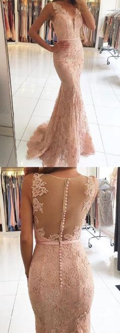 Mermaid Lace prom Dress,Cheap Prom Dress,Sexy prom Dress,