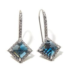 Rarities Gemstone and White Zircon Drop Earrings