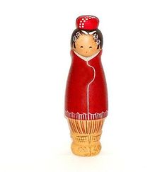 JAPANESE-ASIAN-WOOD-KOKESHI-DOLL-BEAUTIFUL-LADY-IN-WARM-WINTER-COAT-amp-BOOTS