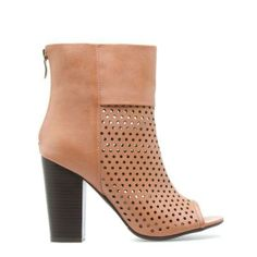 Love the punched detailing on these booties