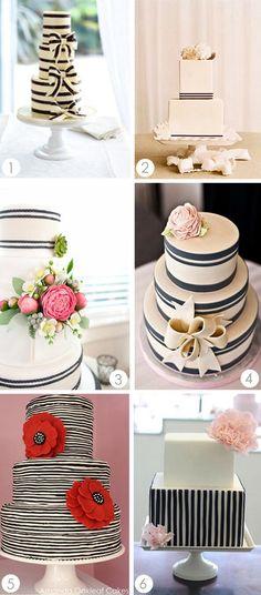 Stripe Wedding Cakes