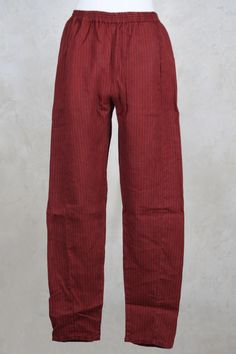 Loose Fitted Trousers in Red Stripe - Privatsachen