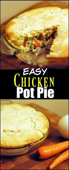 This Chicken Pot Pie is one of our ALL time favorite recipes! Noone will ever believe how easy it is! The secret is the easy crust! Easy Chicken Pot Pie, Chicken Recipes, Yum Yum Chicken, Food Dishes, Main Dishes, Side Dishes, Fall Recipes, Aunt, Cooking Recipes