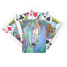 Metallic Horse Playing Cards