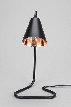 saucy black table lamp