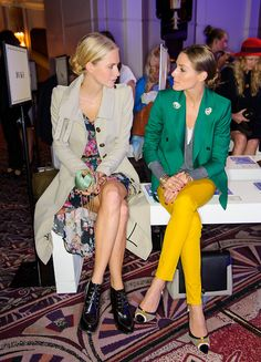 My two fashion icons! Olivia Palermo and Poppy Delvingne.