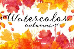 Check out 15 watercolor autumn backgrounds by Art-of-Sun on Creative Market