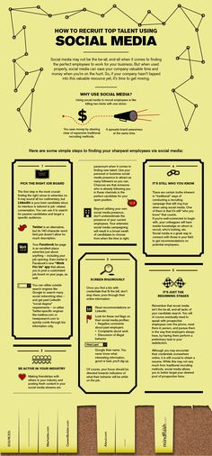 How to recruit top talent using social media #infographic #socialmedia #in
