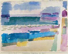 Titre de l'image : Paul Klee - Badestrand St. Germain bei Tunis, 1914