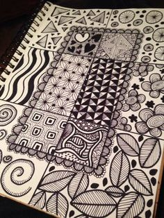 "Zen doodles Who knew this had a name? Been ""zen doodling"" since I was a kid, and…"