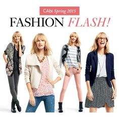 STYLE IT!  CAbi Spring 2015 Fashion Flash is HERE!  www.caronmcmahon.cabionline.com
