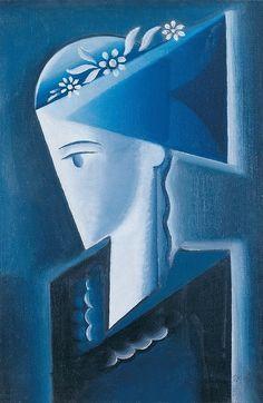 Girl in Shirt, 1916 - Josef Capek Cubism Art, Modern Art, Contemporary, Wassily Kandinsky, Artist Art, Surrealism, Supernatural, Scene, Fine Art