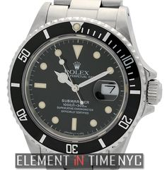 #Rolex #Submariner Transitional Model 40mm iN Stainless Steel With A Black Dial Circa 1987 (168000)