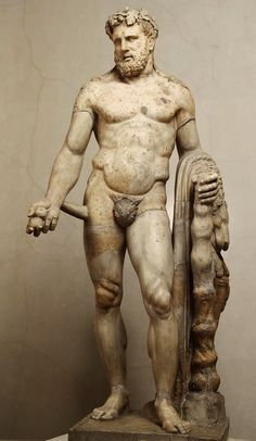 Hercules with the Apples of the Hesperides. 1st.-2nd.century, Roman copy of a Greek original.