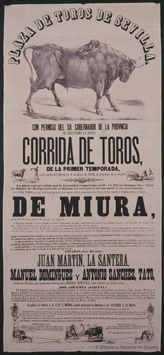 Corrida de toros de la primer [sic] temporada. Maestranza de Sevilla — Dibujos, grabados y fotografías — 1862