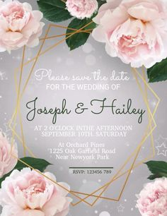 Customize this design with your video, photos and text. Easy to use online tools with thousands of stock photos, clipart and effects. Free downloads, great for printing and sharing online. Flyer (US Letter). Tags: anniversary, save the date, wedding, wedding invitation, wedding video, Anniversary, Wedding , Wedding Create Invitations, Elegant Invitations, Wedding Invitation Templates, Wedding Invitations, Free Downloads, Save The Date, Rsvp, Wedding Events, Special Occasion