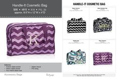 The cosmetic bag is back!! Or the BIBLE  carrying bag us back!!! Look at these fall colors.  www.mythirtyone.com/KStacks  or 1-803-287-0606
