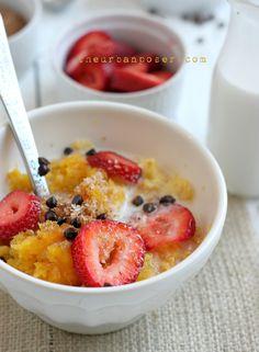 Easy Butternut Squash or Pumpkin Porridge; A Nut & Egg Free Breakfast Option
