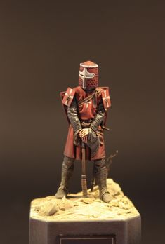 Miles Christi by Goetz Siepmann · Putty&Paint Medieval Knight, Medieval Armor, Lord Of War, Hobbies For Men, Modeling Techniques, Knight Armor, Sword And Sorcery, Custom Action Figures, Miniature Figurines