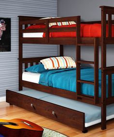Cappuccino Mission Trundle Bunk Bed