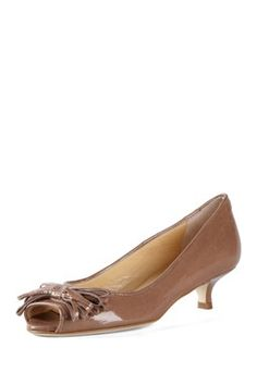 Talbots Kitten Heel Slingbacks in Pink Flambe | Never Enough Shoes
