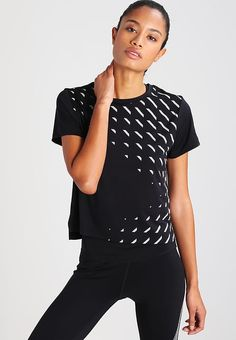 Nike Performance CITY - Print T-shirt - black for with free delivery at Zalando Sports Tops, City Print, Bike Wear, Shirt Print, Nike, Free Delivery, Printed Shirts, Digital, How To Wear