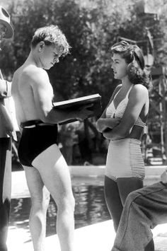 Mickey Rooney and Esther Williams :: on the set of Andy Hardy's Double Life, 1942
