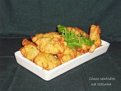 Cinco sentidos na cozinha: Pataniscas de peixe e legumes - aproveitamento de ...
