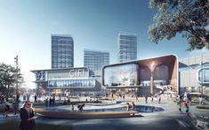 年度大戏 | 成执2020优秀作品票选开启! Mall Facade, Light Art Installation, Commercial Complex, Futuristic City, Shopping Street, Education Architecture, City Art, Convention Centre, Panama