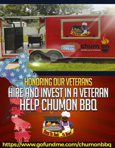 Thank you for your service is shown by helping a Vet. #gofundme #kickstarter #indiegogo #fundraiser  #donate #help #ChumOnBBQ www.gofundme.com/chumonbbq