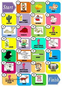 Irregular Plurals worksheet - Free ESL printable worksheets made by teachers English Games, English Activities, English Fun, English Lessons, English Grammar, Learn English, Plurals Worksheets, Worksheets For Kids, Printable Worksheets