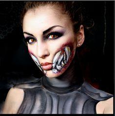 mileena mortal kombat makeup - Google Search