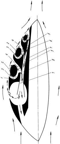 Рисунки патента 2015941 - Способ управления пограничным слоем на аэродинамической поверхности летательного аппарата