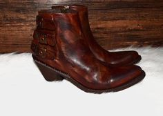 Old Gringo Brown Leather Zip Up Ankle Cowgirl Boots/Booties Size US 9.5 Regular (M, B) - Tradesy Brown Leather Ankle Boots, Brown Heels, Leather Booties, Brown Boots, Old Gringo, Ankle Shoes, Shoe Boutique, Spring Shoes, Cowgirl Boots