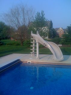 A Slide For Pool That Was Built And Designed By Caribbean Pools Caribbeanpools