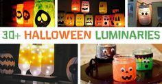 30 Halloween Luminaries to Light Up the Night Halloween Forum, Halloween Crafts, Halloween 2020, Halloween Ideas, Happy Halloween, Tin Can Crafts, Easy Crafts For Kids, Handmade Headbands, Handmade Crafts