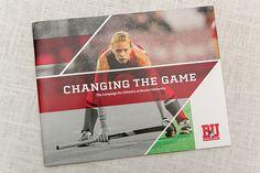 Boston University Athletics Campaign Brochure by Chandra Wroblewski, via Behance. Education, layout, brochure, graphic design.