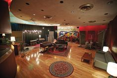 Studio A, designed by John Storyk. Electric Lady Studio in 2015