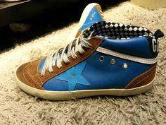 Golden Goose Deluxe Brand Mid Star - Blue Brown