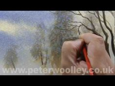 Watercolour Tip from PETER WOOLLEY: Salt Glazing and Snowfall - YouTube