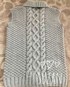 Knit Vest Pattern, Sweater Knitting Patterns, Knitting Stitches, Knit Patterns, Hand Knitting, Baby Girl Cardigans, Baby Sweaters, Diy Crafts Knitting, Crochet Placemats
