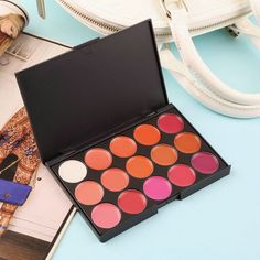 Multi-colored 15 Colors Makeup Palette Cosmetic Gloss Lipstick Lip of One Set Quality