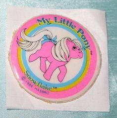 Rare Vintage My Little Pony G1 Puffy Sticker Movie Star Snowflake MLP